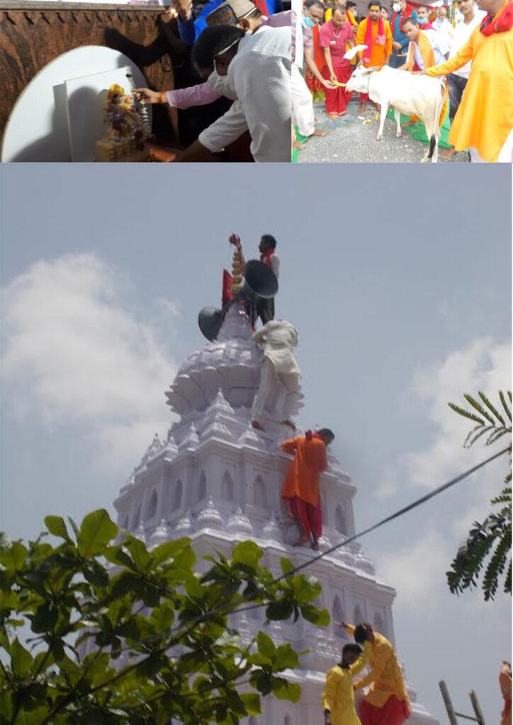 मंदिर का जीर्णाद्धार भगवान की कृपा से होता है- दिनेश राय